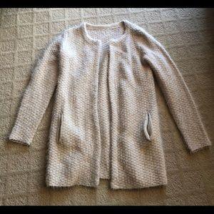 NWIT cozy cream sweater coat/cardigan